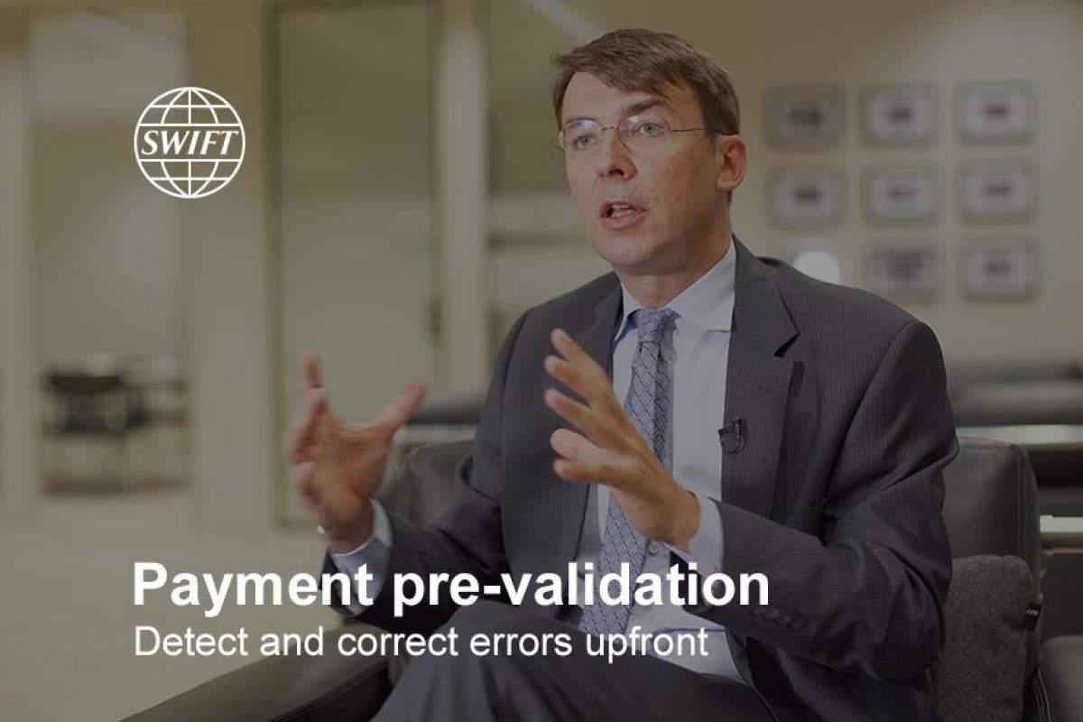 SWIFT gpi payments pre-validation