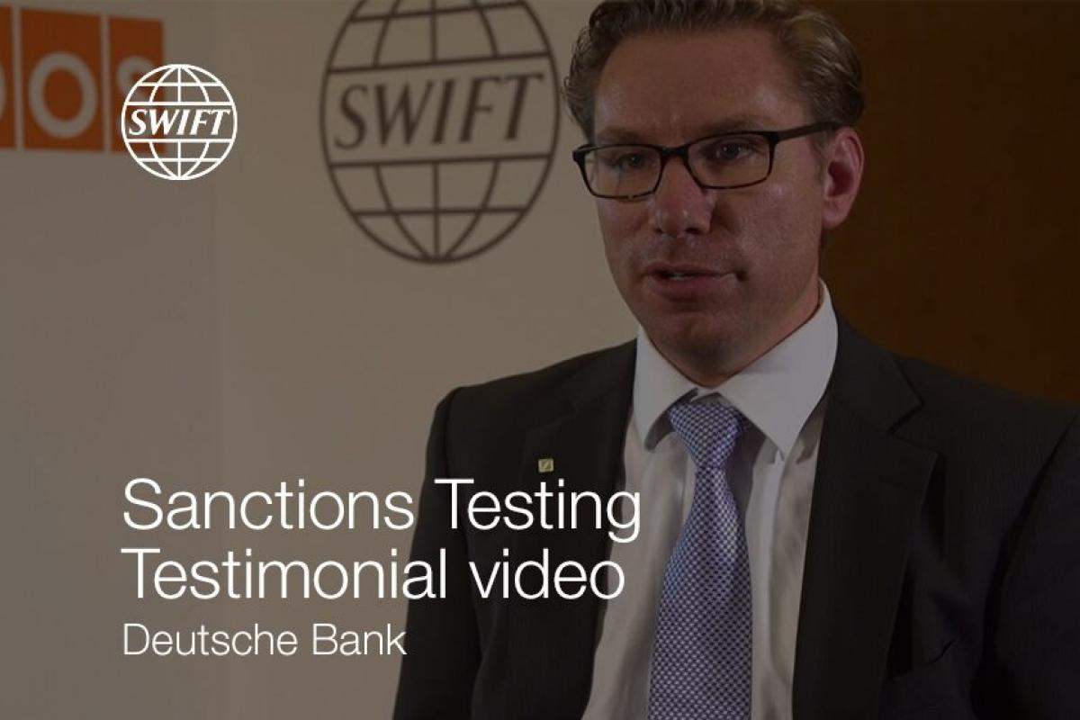 Sanctions Testing Testimonial Video - Deutsche Bank