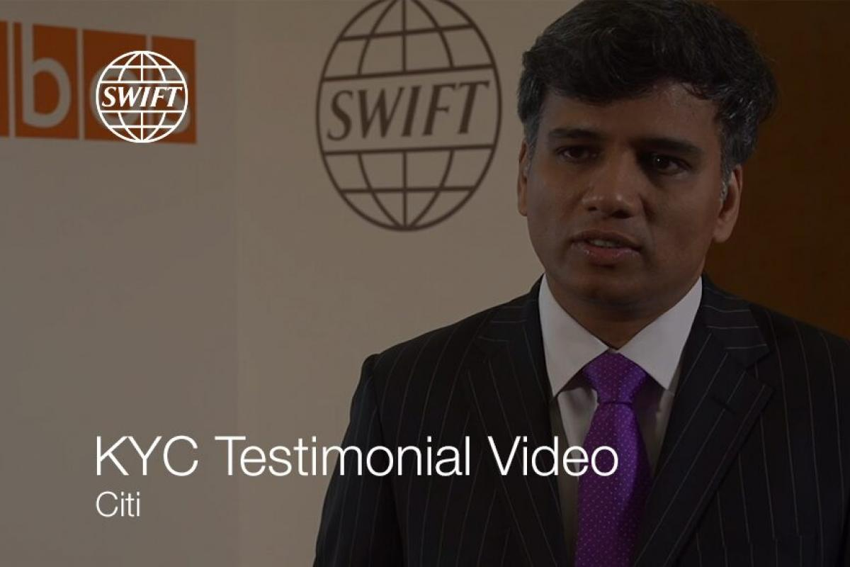 Sam Kalyanam of Citi outlines advantages of using The KYC Registry.