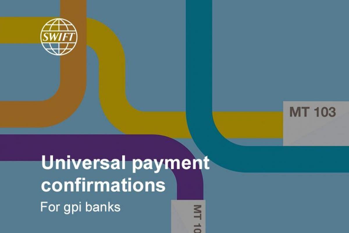 Universal payment confirmations - for gpi banks