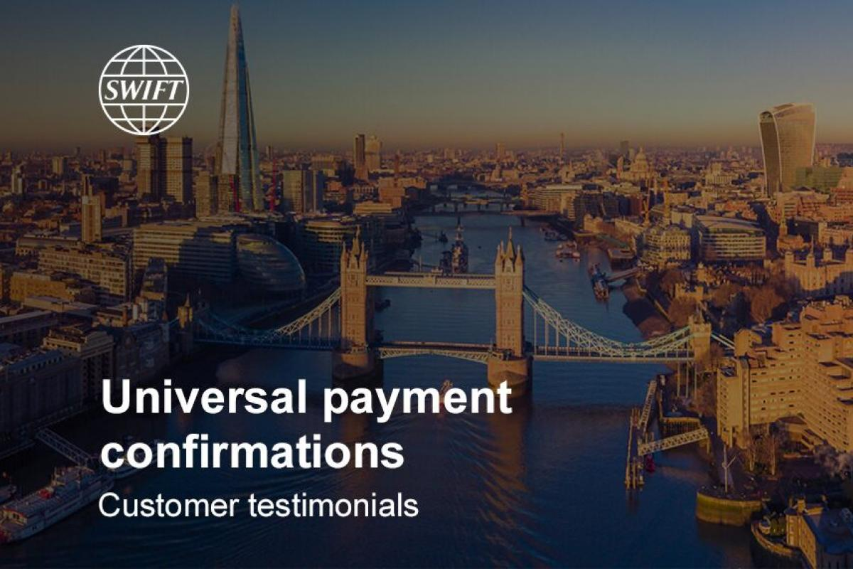 Universal payment confirmations customer testimonials