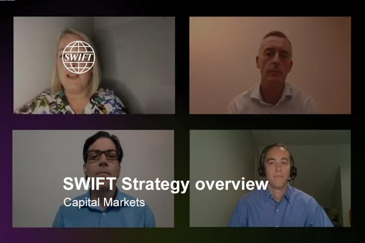 SWIFT strategy overview: Capital markets