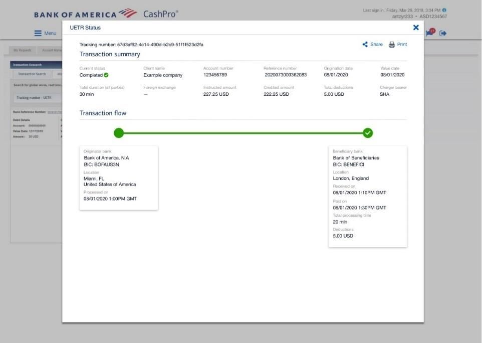 Bank of America - SWIFT gpi portal integration