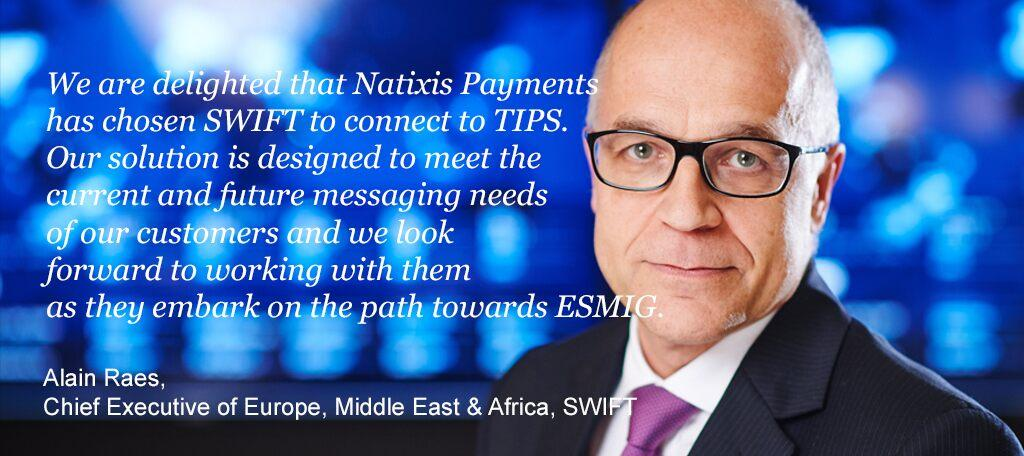 Alain Raes, Chief Executive of Europe, Middle East & Africa, SWIFT